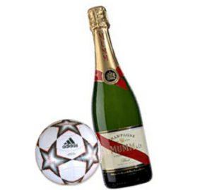 Risultati immagini per calcio champagne